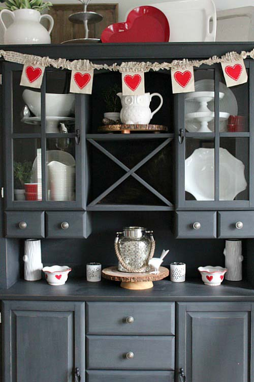 Valentines Day Decor #valentinesday #rustic #decor #diy #decorhomeideas