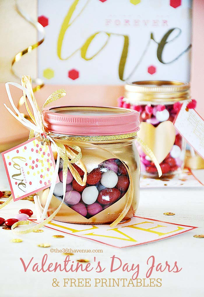 Valentines Day Gifts Heart Jars #valentinesday #crafts #jars #gifts #decorhomeideas