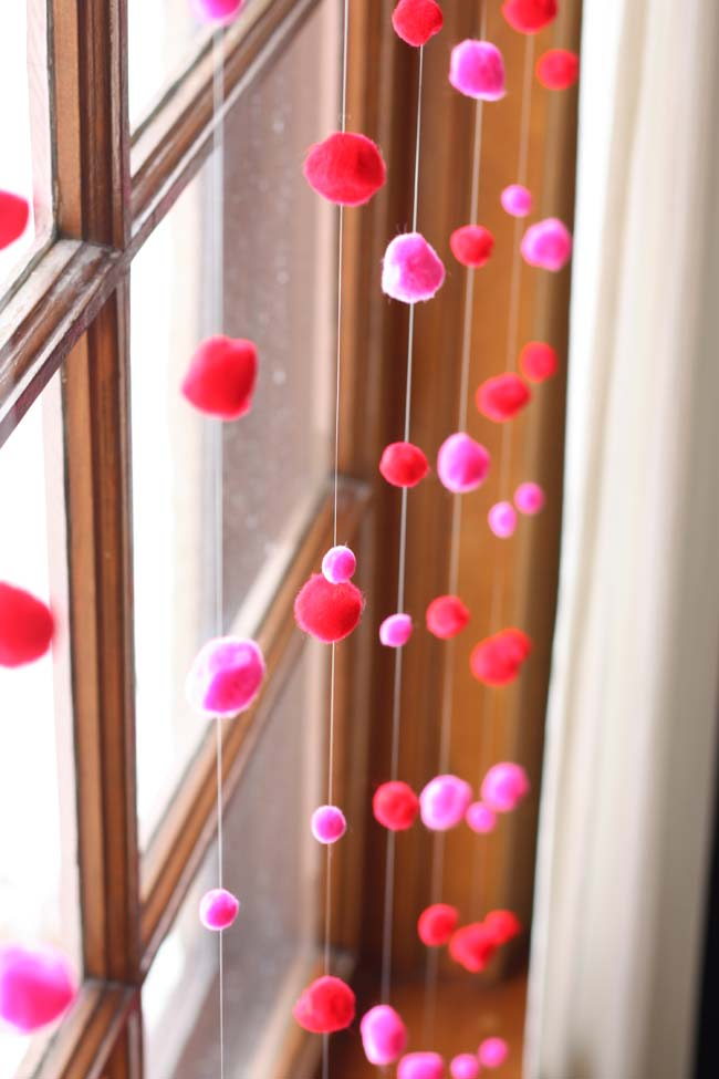 Valentine's Day Window Decoration #valentine #dollarstore #diy #decor #decorhomeideas
