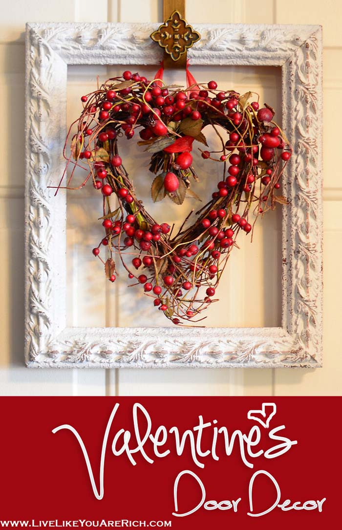 Valentine's Door Decor #valentine #dollarstore #diy #decor #decorhomeideas