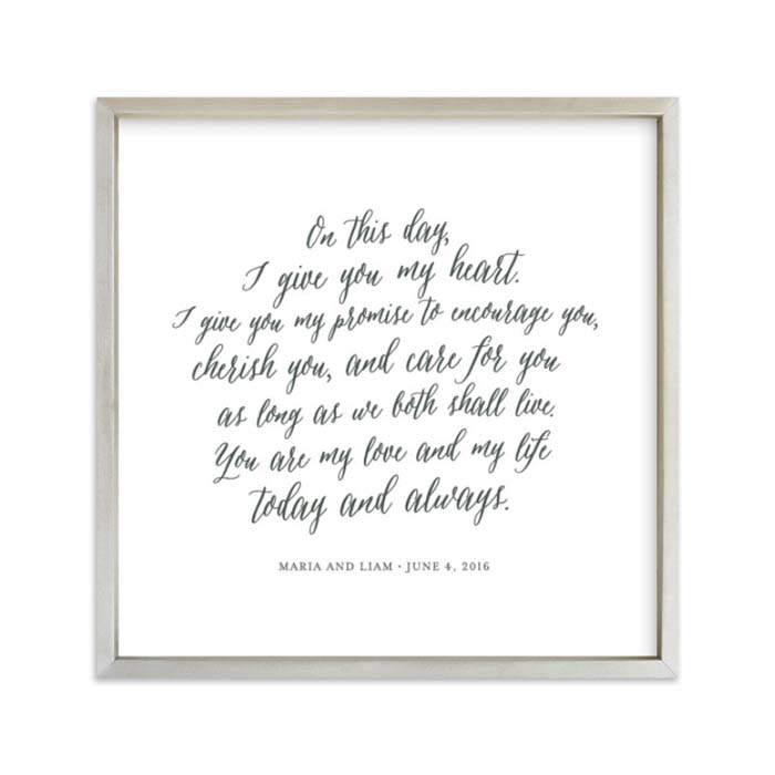 Your Vows as an Art Print #valentine #gifts #girl #woman #decorhomeideas