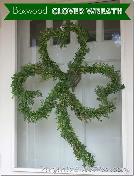 Boxwood Clover Wreath #stpatrick #diy #wreath #decorhomeideas