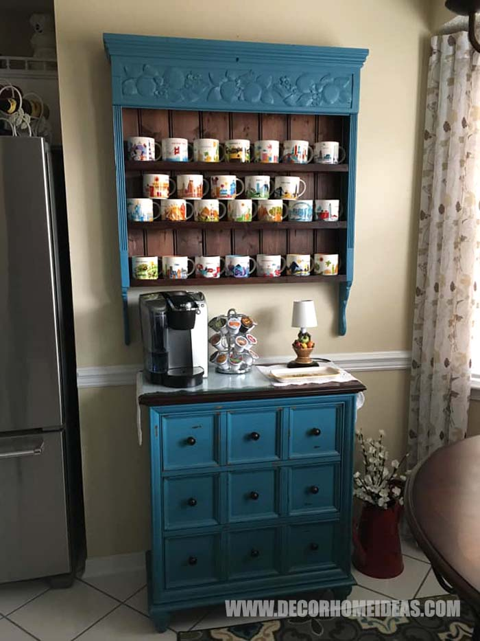Coffee Station For All The Mugs #diy #coffee #station #decorhomeideas