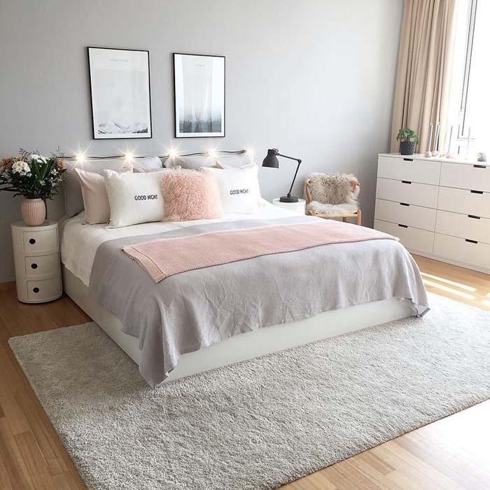 Cozy Bedroom In Pink And White #women #bedroom #feminine #decor #decorhomeideas