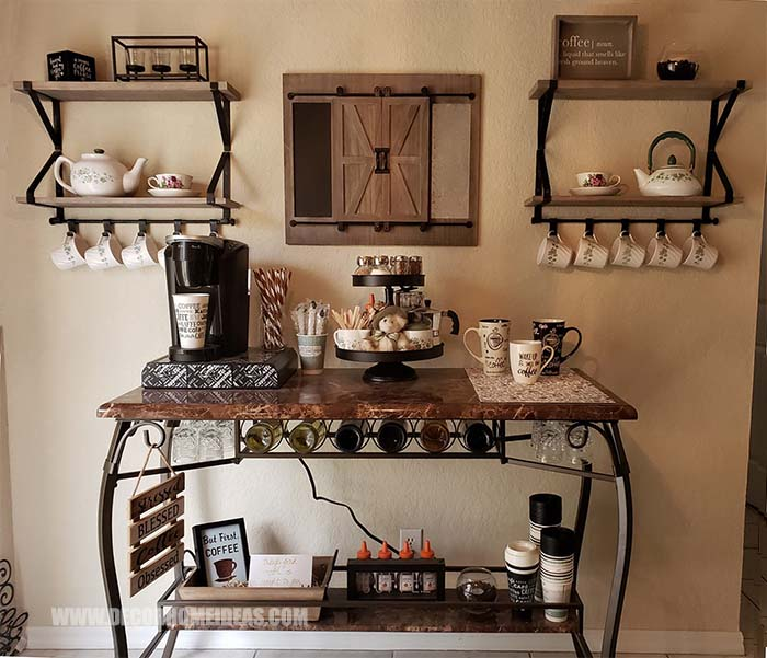 DIY Coffee Room #coffee #bar #diy #decorhomeideas