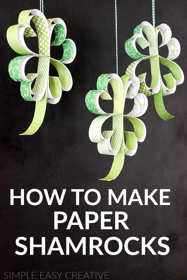 How To Make Paper Shamrocks #stpatrick #diy #decor #decorations #decorhomeideas