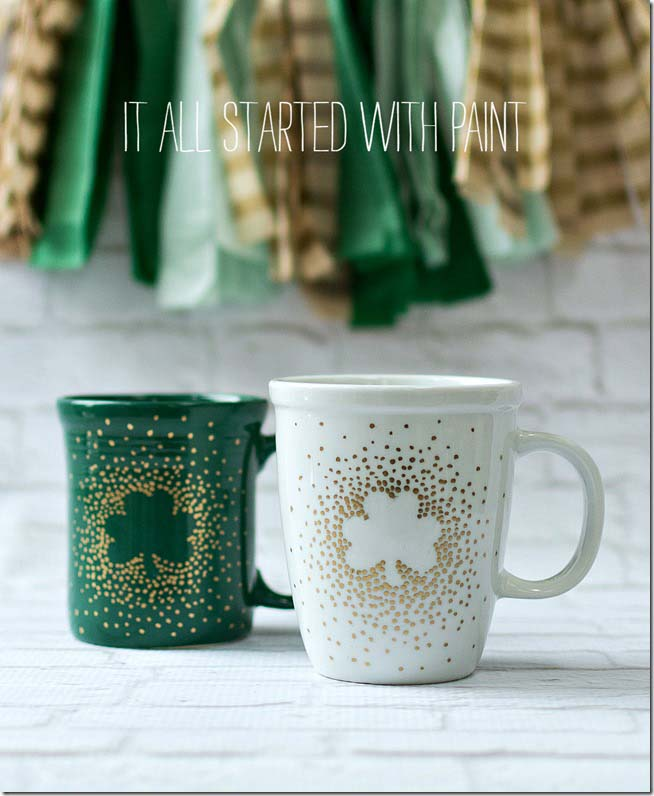 Irish Coffee Mugs #stpatrick #diy #decor #decorations #decorhomeideas