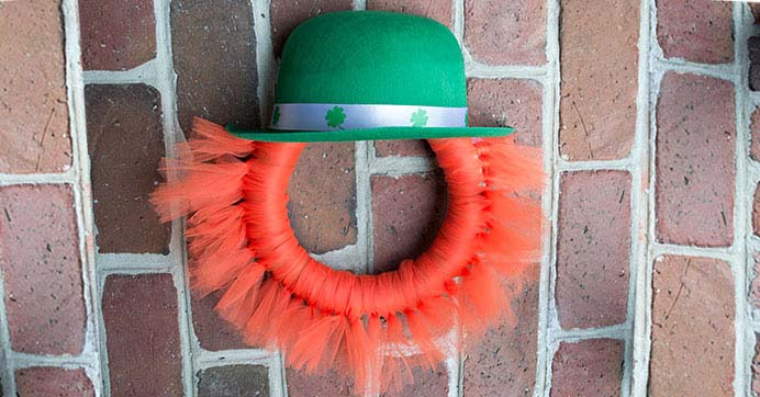Leprechaun Wreath #stpatrick #diy #wreath #decorhomeideas