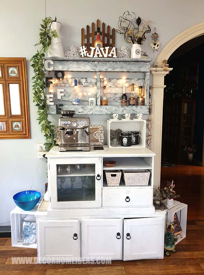 Old Tv Cabinet Coffee Bar #coffee #bar #diy #decorhomeideas