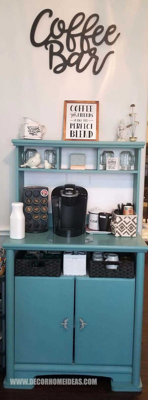 Small Coffee Bar #coffee #bar #decorhomeideas