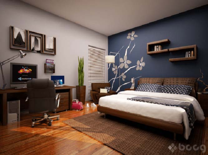 Small Bedroom With Bed And Workplace #women #bedroom #feminine #decor #decorhomeideas