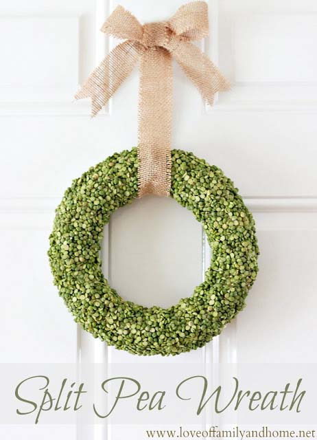 Split Pea Wreath #stpatrick #diy #wreath #decorhomeideas