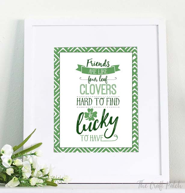 St. Patrick Framed Printable #stpatrick #diy #decor #decorations #decorhomeideas