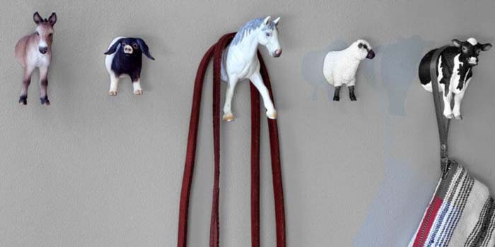 Animal Wall Hooks #diy #hatrack #organizer #decorhomeideas