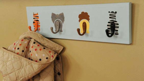 Animal Bums Coat Hook #diy #hatrack #organizer #decorhomeideas