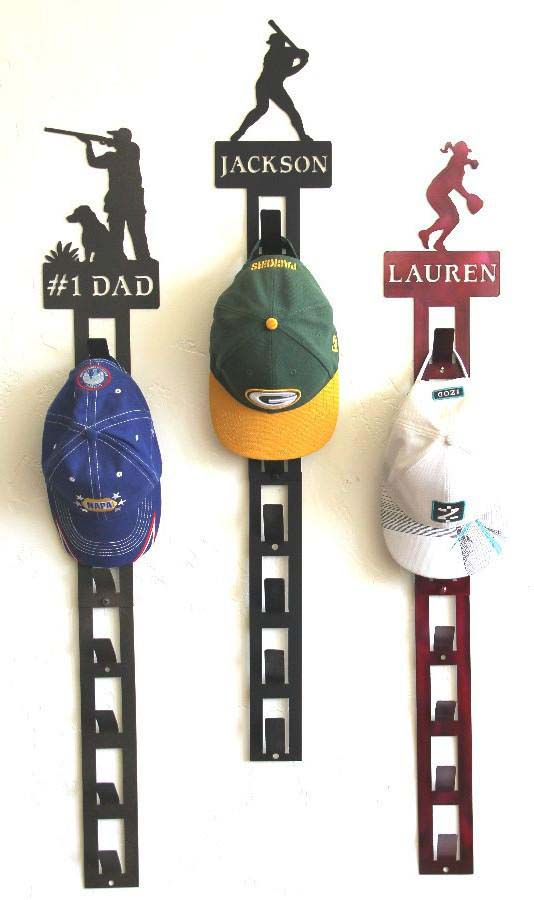 Baseball Cap Hat Rack Personalized #diy #hatrack #organizer #decorhomeideas