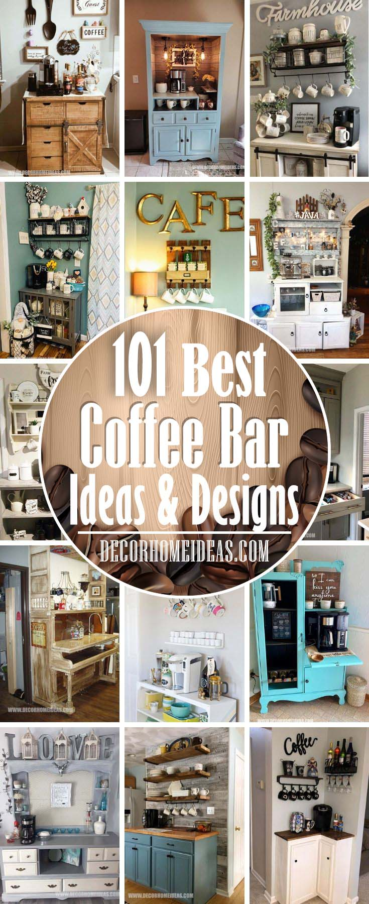 Best DIY Coffee Station Ideas and DIY Coffee Bar Ideas. If you are in love with coffee you need to see the best DIY Coffee station ideas that you can easily build at home #coffeebar #coffeestation #decorhomeideas