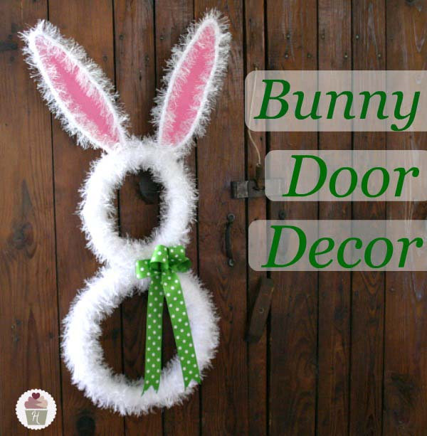Bunny Door Decoration #easter #diy #cheap #decor #decorhomeideas