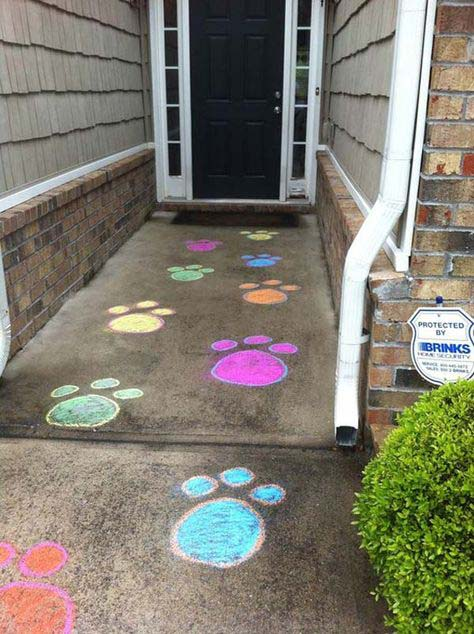 Bunny Paw Prints #easter #diy #porch #decor #decorhomeideas