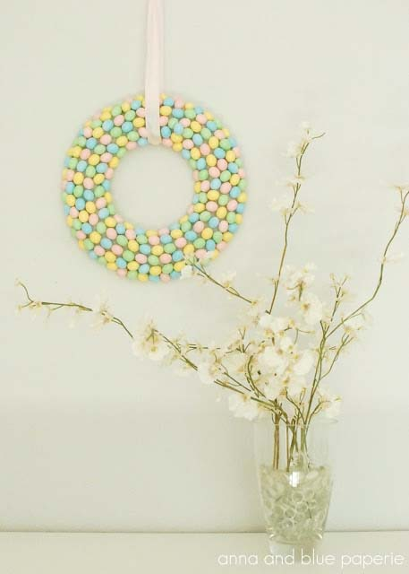 Candy Wreath #easter #diy #cheap #decor #decorhomeideas