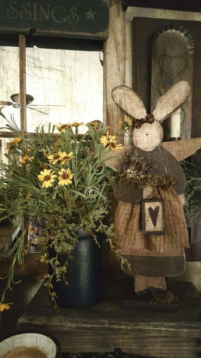 Countryside Easter Decorations #easter #diy #porch #decor #decorhomeideas