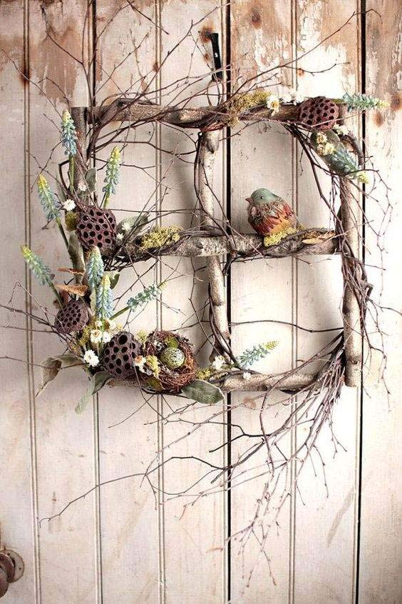 Cross Out Of Twigs #easter #diy #porch #decor #decorhomeideas