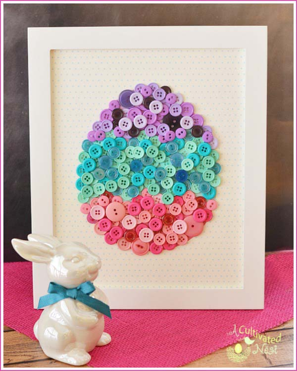 DIY Easter Egg Button #easter #diy #cheap #decor #decorhomeideas