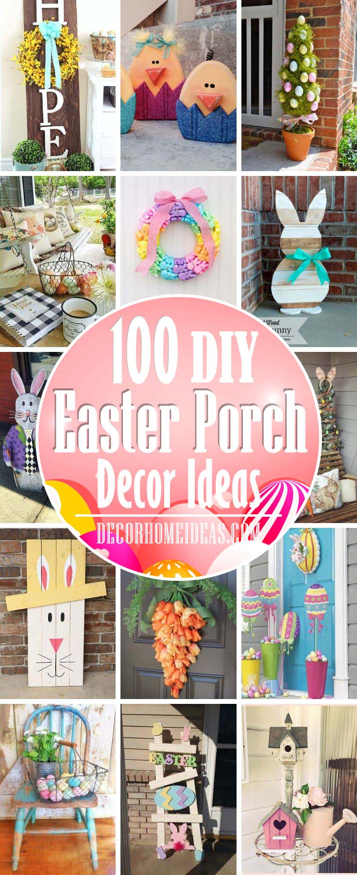 DIY Easter Porch Decor Ideas #Easter #porch #diy #decorhomeideas