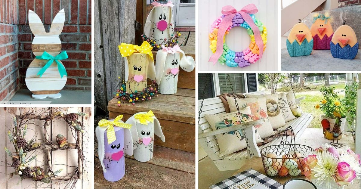 DIY Easter Porch Decorations