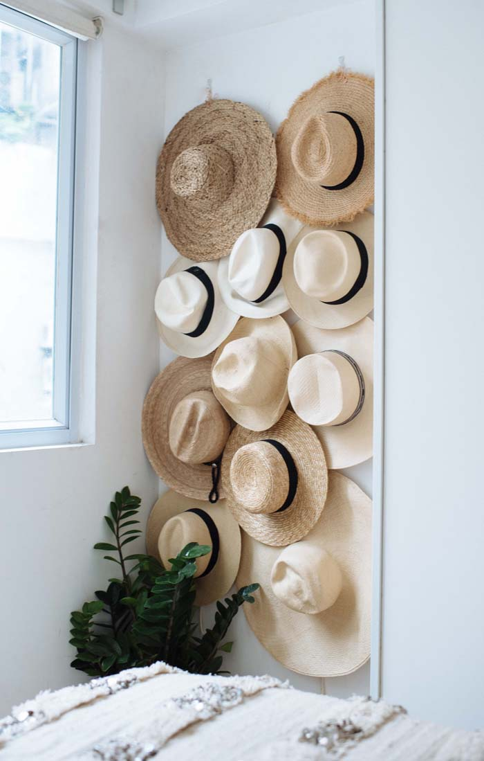 DIY Hat Rack #hatrack #diy #organizer #decorhomeideas