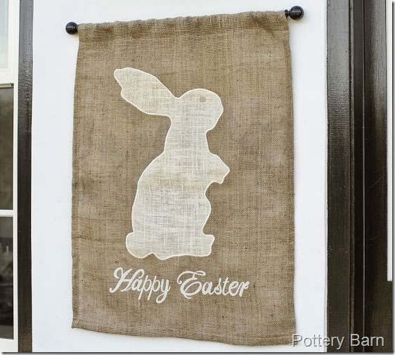 DIY Pottery Barn Inspired Bunny #easter #diy #porch #decor #decorhomeideas