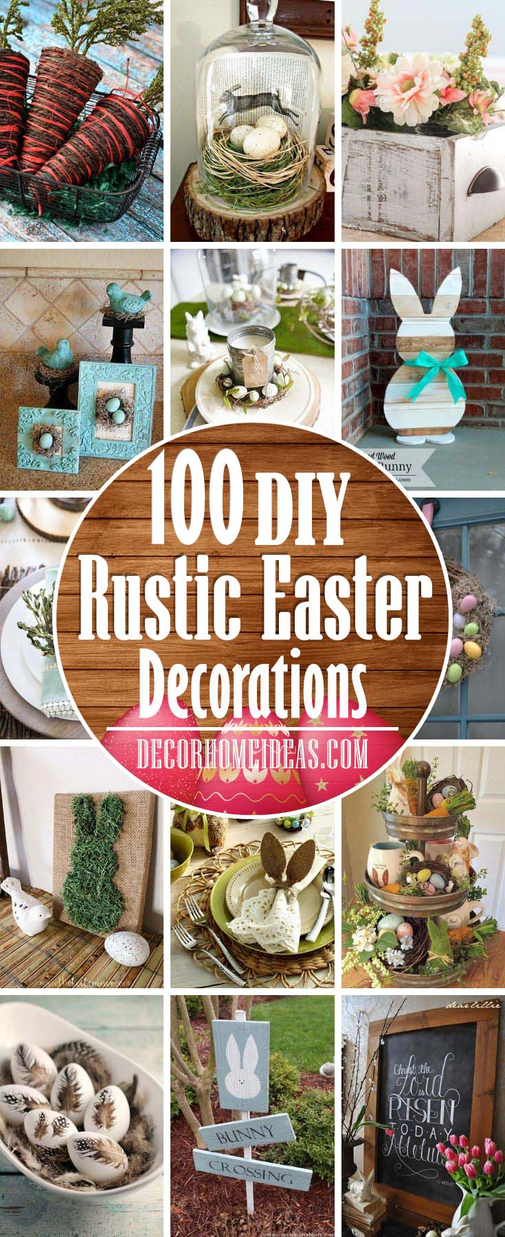 DIY Rustic Easter Decorations. Make your holiday decor stand out with these amazing DIY rusitc Easter decorations. #rustic #Easter #decorations #decorhomeideas