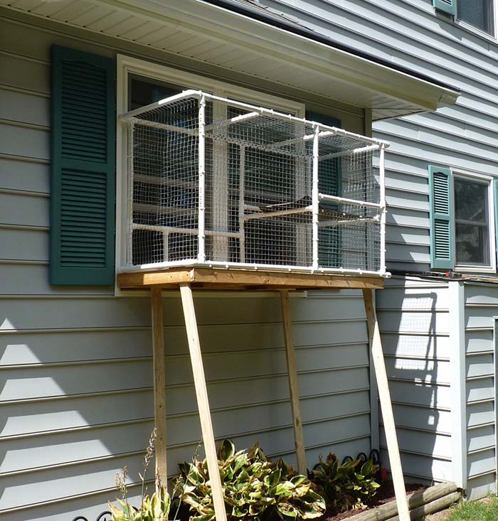 DIY Screened Cat Porch