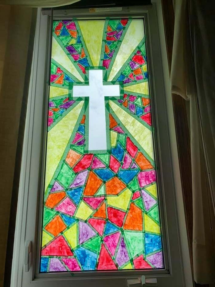 DIY Window Stained Glass