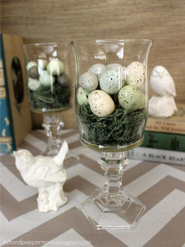 Dollar Store Rustic Easter Vases #easter #diy #cheap #decor #decorhomeideas