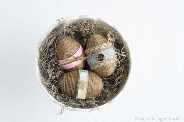 Dollar Store Shabby Chic Easter Eggs #easter #diy #rustic #decor #decorhomeideas