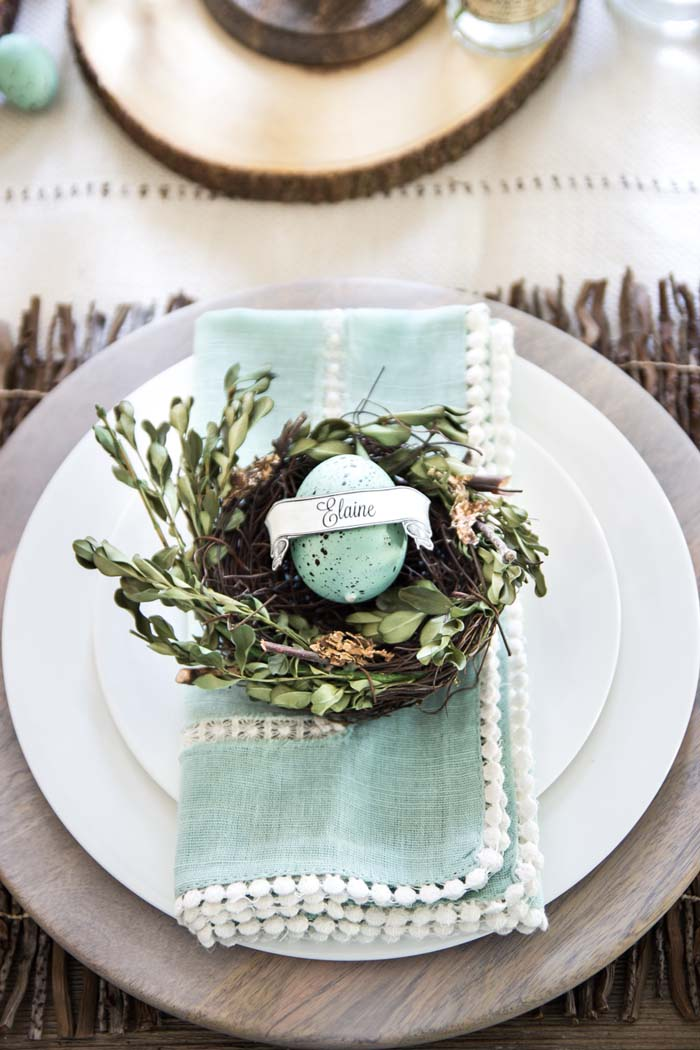 Easter Brunch Table #easter #diy #rustic #decor #decorhomeideas