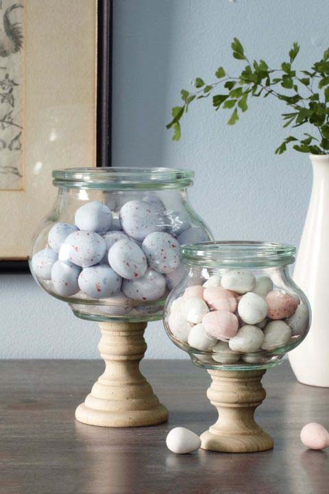Easter Candy Jars #easter #diy #cheap #decor #decorhomeideas