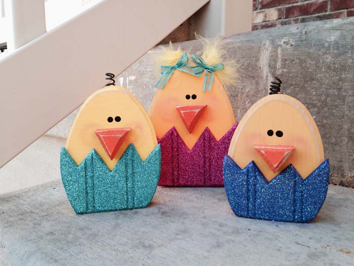 Easter Chicks #easter #diy #porch #decor #decorhomeideas