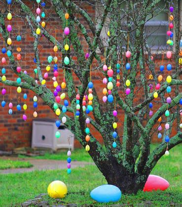 Easter Egg Tree Decor #easter #diy #cheap #decor #decorhomeideas