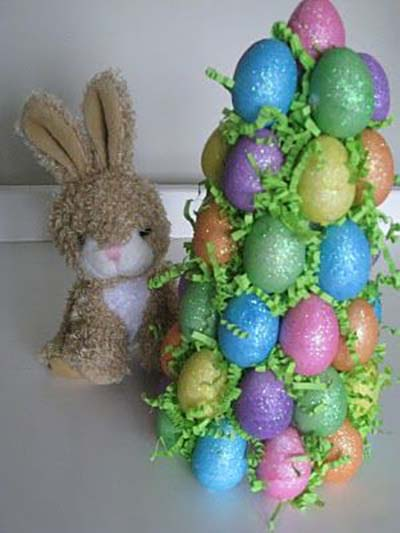 Easter Egg Tree #easter #diy #cheap #decor #decorhomeideas