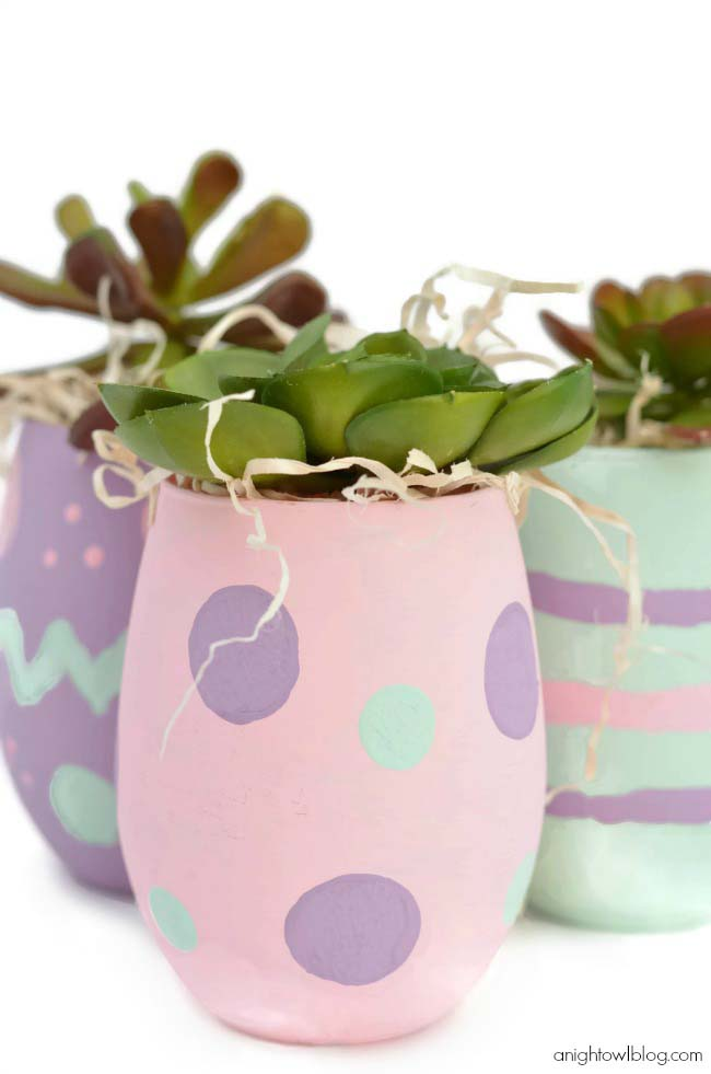 Easter Egg Vases Decor #easter #diy #cheap #decor #decorhomeideas