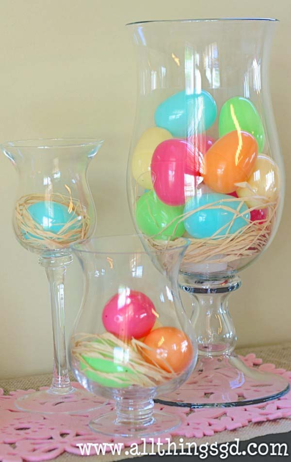 Easter Egg Vases #easter #diy #cheap #decor #decorhomeideas