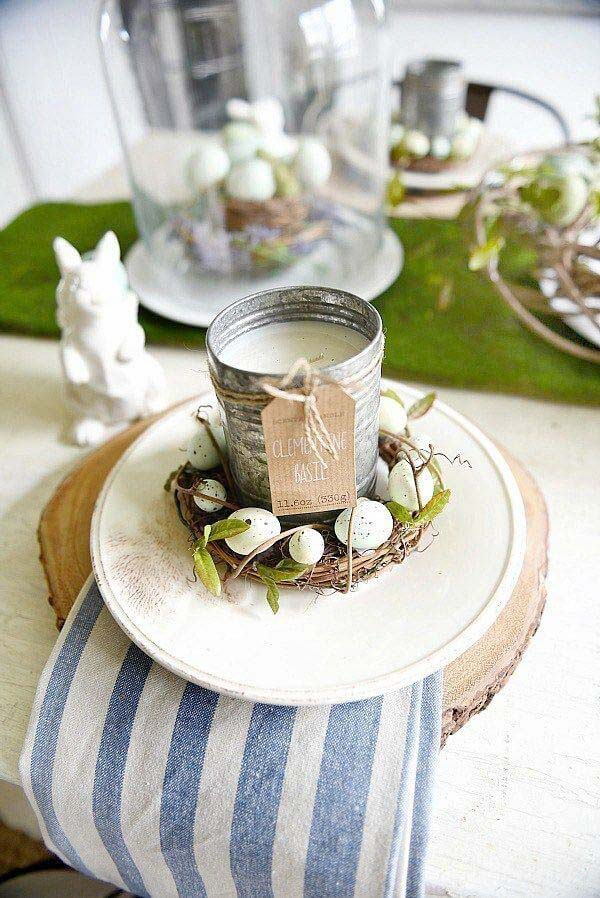Easter Eggs And Candle #easter #diy #rustic #decor #decorhomeideas