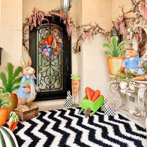 Easter Exteriors For Your Home #easter #diy #porch #decor #decorhomeideas
