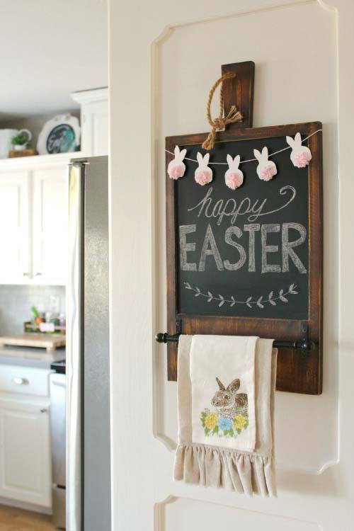 Easter mini bunny bunting #easter #diy #rustic #decor #decorhomeideas