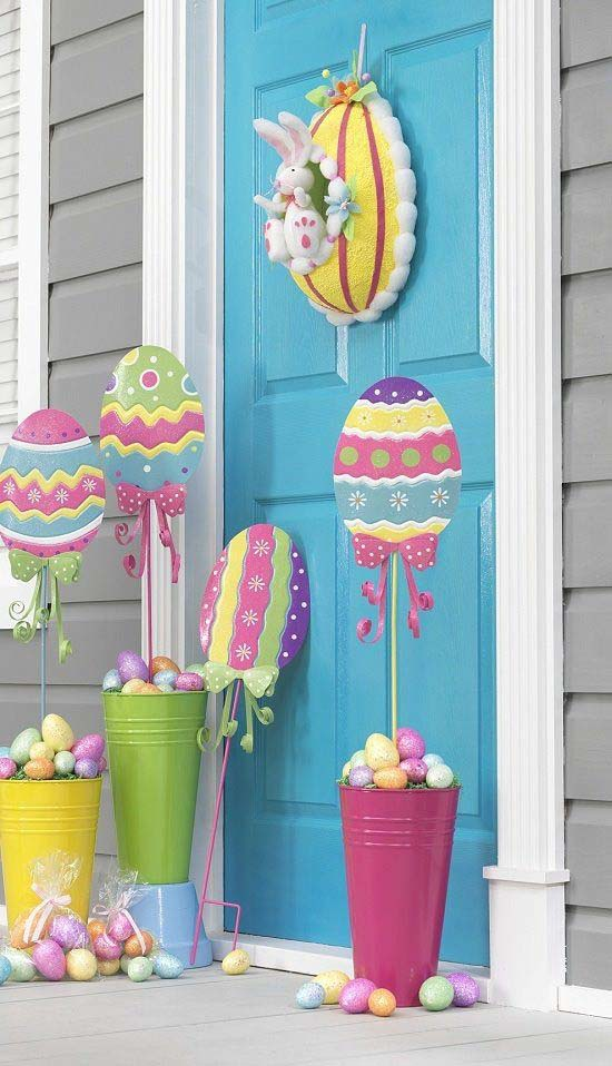 Easter Porch Decor Ideas #easter #diy #porch #decor #decorhomeideas