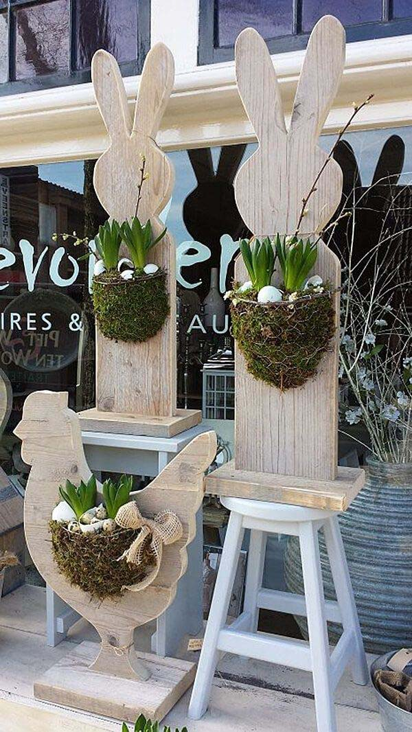 Easter Porch Ideas #easter #diy #wood #crafts #decorhomeideas