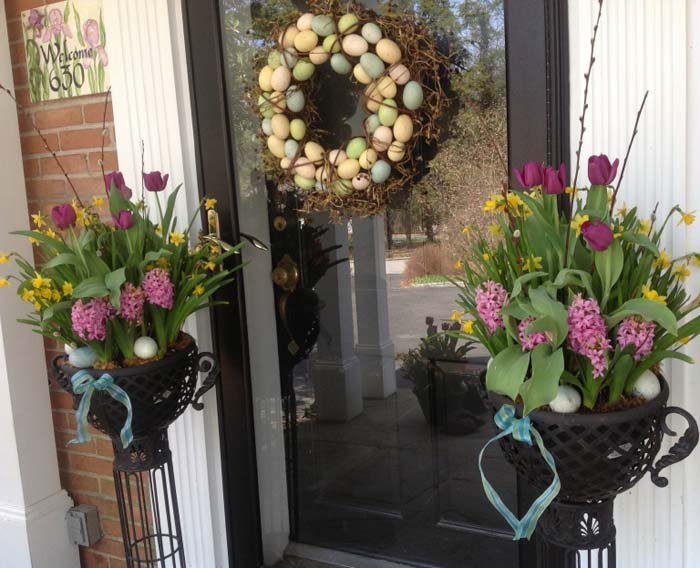 Easter Welcome #easter #diy #porch #decor #decorhomeideas