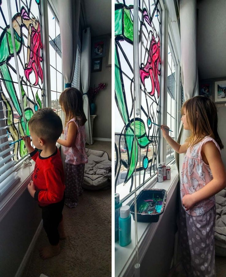 Easy Diy Stained Glass Windows Kids